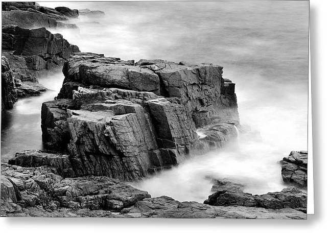 Thunder Along The Acadia Coastline - No 1 Greeting Card by Thomas Schoeller