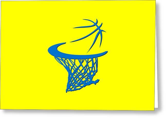 Sweat Greeting Cards - Thunder Basketball Hoop Greeting Card by Joe Hamilton