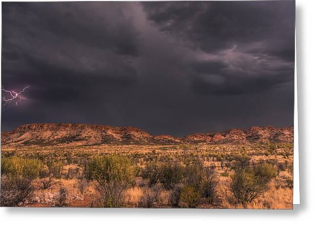 Print Greeting Cards - Thunder Downunder Greeting Card by Racheal  Christian