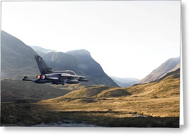 Thunder In The Glen Greeting Card by Pat Speirs