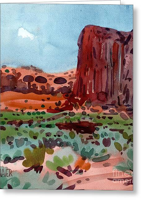 Thunderbird Greeting Cards - Thunderbird Butte Greeting Card by Donald Maier