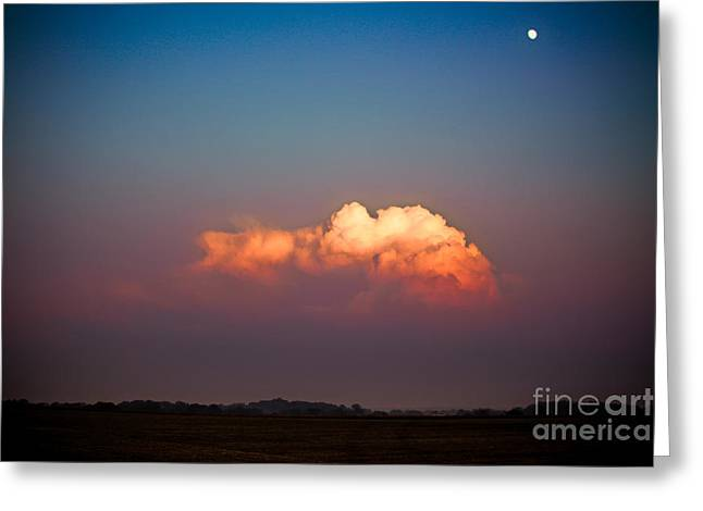 (c) 2010 Photographs Greeting Cards - Thunderhead at Dusk Greeting Card by Ryan Kelly