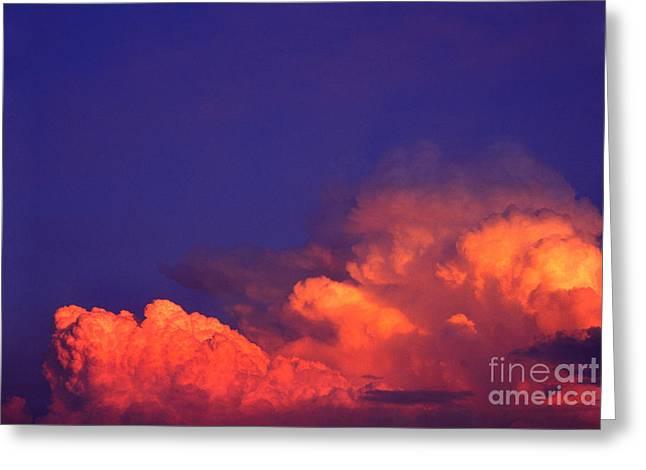 Thunderhead At Sunset Greeting Card by Thomas R Fletcher