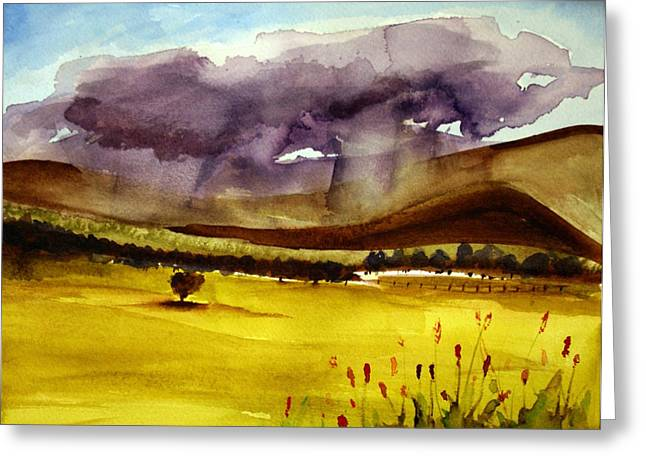 Paint Photograph Paintings Greeting Cards - Thundering Greeting Card by Julie Lueders