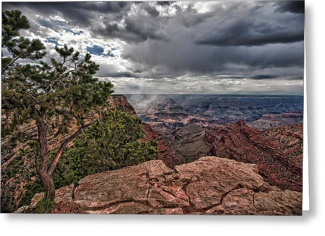 Himmel Greeting Cards - Thunderstorm - Grand Canyon Greeting Card by Andreas Freund