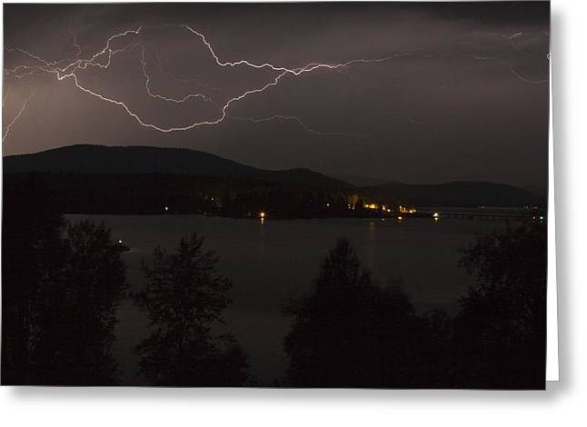 Thunderstorm Greeting Cards - Thunderstorm  Greeting Card by Albert Seger