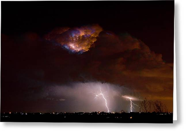 Images Lightning Greeting Cards - Thunderstorm Boulder County 08-15-10 Greeting Card by James BO  Insogna