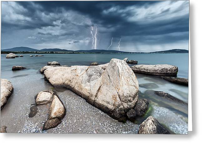 Thunderstorm Greeting Cards - Thunderstorm  Greeting Card by Evgeni Dinev