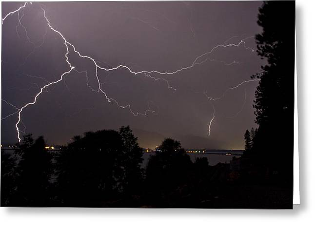 Thunderstorm Greeting Cards - Thunderstorm II Greeting Card by Albert Seger