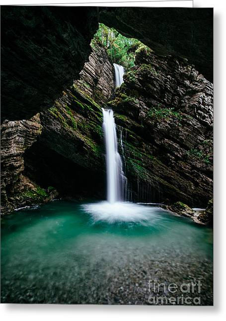 Swiss Photographs Greeting Cards - Thur waterfalls Greeting Card by Peter Wey