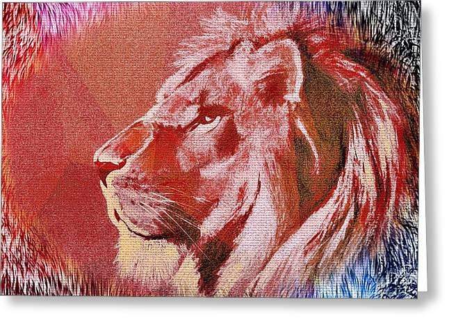 Coloured Greeting Cards - Thy Kingdom Come II Greeting Card by Caroline Evans