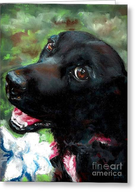 Canines Pastels Greeting Cards - Tia Greeting Card by Frances Marino