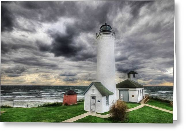 Photomatix Pro Greeting Cards - Tibbetts Point Lighthouse  Greeting Card by Lori Deiter