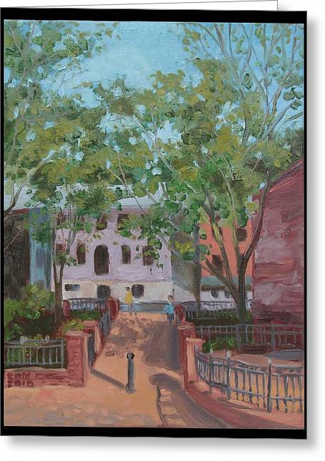 Edward Williams Greeting Cards - Tiber Park Greeting Card by Edward Williams