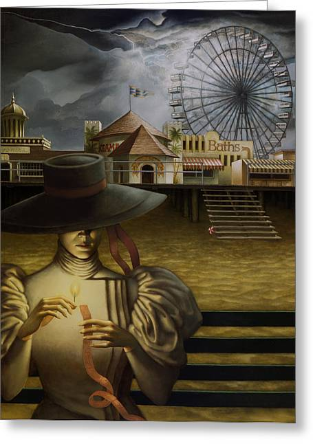 Bath House Greeting Cards - Ticket to Ride Greeting Card by Jane Whiting Chrzanoska