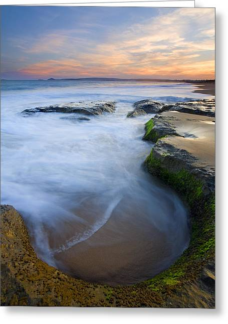 Tidal Bowl Greeting Card by Mike  Dawson