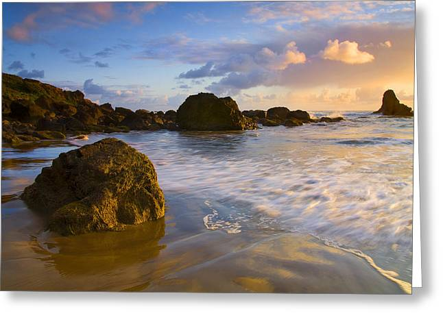 Wet Greeting Cards - Tidal Flow Greeting Card by Mike  Dawson