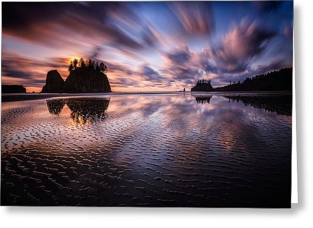 Second Movement Greeting Cards - Tidal Reflection Serenity Greeting Card by Mark Robert Rogers