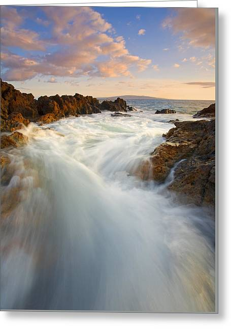 Greeting Cards - Tidal Surge Greeting Card by Mike  Dawson