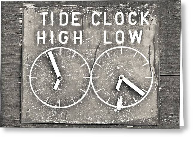 High And Low Greeting Cards - Tide clock Greeting Card by Tom Gowanlock