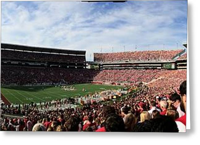 Bryant Greeting Cards - Tide Fans Cheering Greeting Card by Luke Pickard