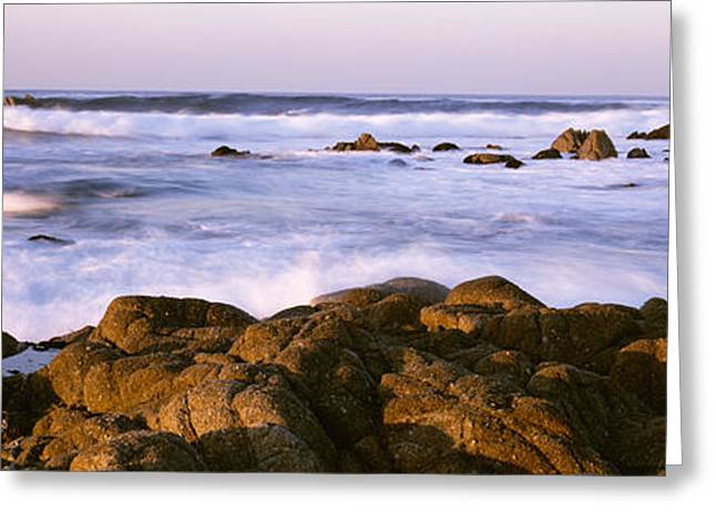 Pacific Grove Beach Greeting Cards - Tide Formation In Sea, Pacific Grove Greeting Card by Panoramic Images