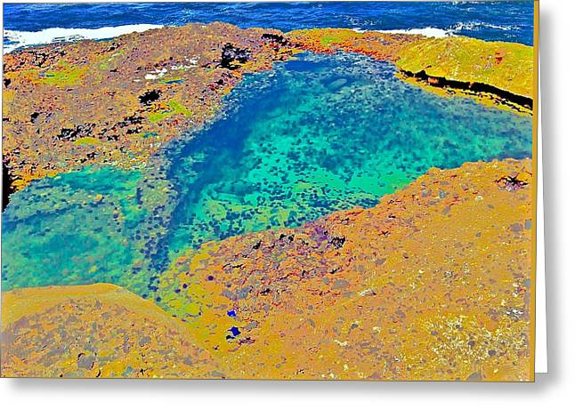 Point Lobos Greeting Cards - Tide Pool Greeting Card by Scott L Holtslander