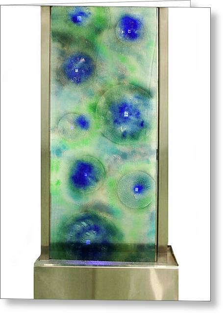 Stainless Steel Glass Greeting Cards - Tide Pool Water Feature Greeting Card by Sandy Jackson