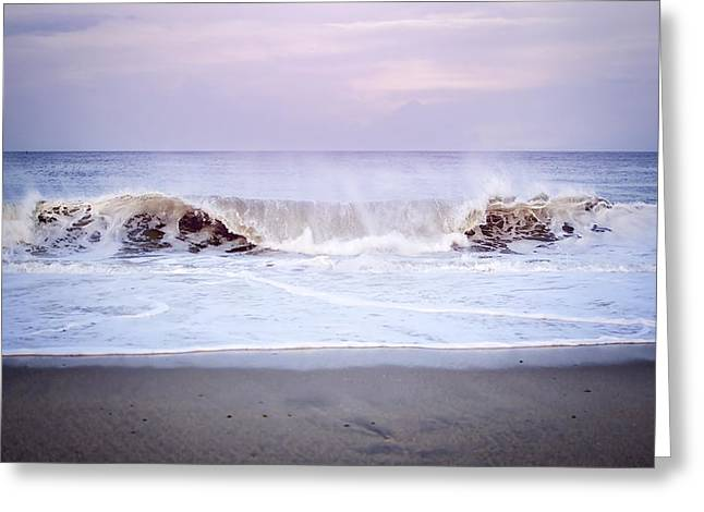 Point Pleasant Greeting Cards - Tide Rolling In Greeting Card by Heather Applegate
