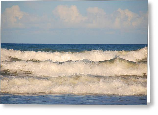 The Landscape Listens Greeting Cards - Tide rolling to the shores Greeting Card by Susanne Van Hulst