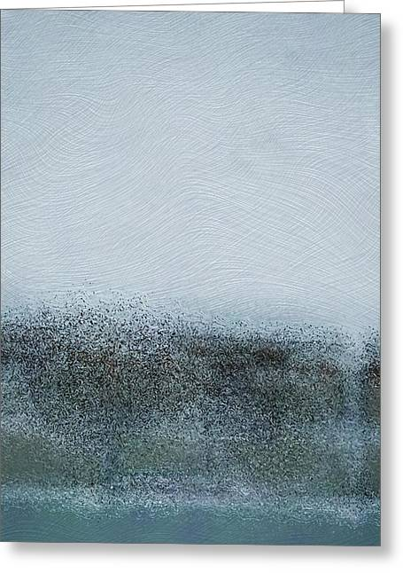Ocean . Beach Decor Mixed Media Greeting Cards - Tide Greeting Card by Susan  Epps Oliver