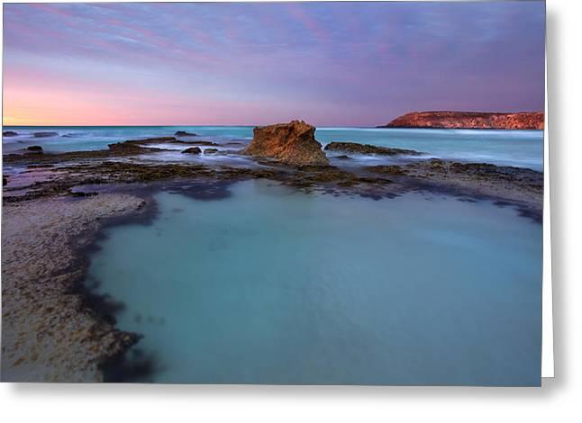 Beach Greeting Cards - Tidepool Dawn Greeting Card by Mike  Dawson