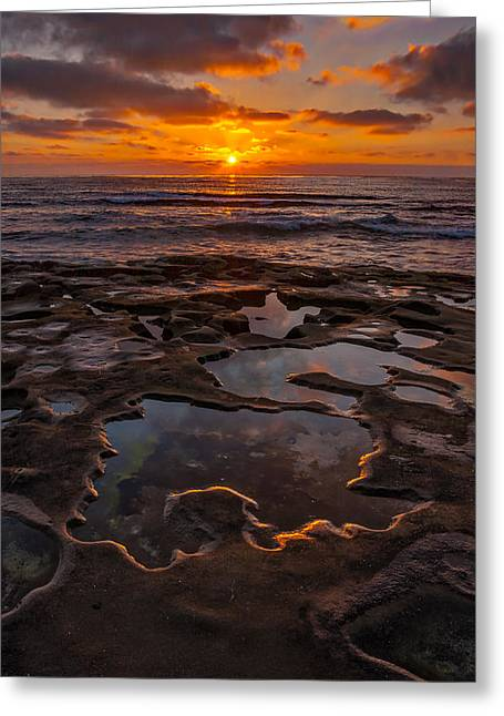 Recently Sold -  - Ocean Landscape Greeting Cards - Tidepools at La Jolla Greeting Card by Peter Tellone