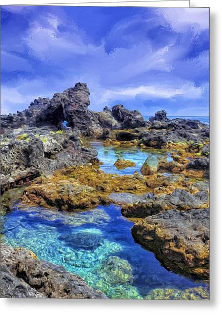 Lahaina Greeting Cards - Tidepools Near Hookipa Maui Greeting Card by Dominic Piperata