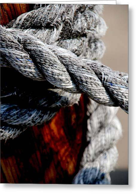 Rope Greeting Cards - Tied together Greeting Card by Susanne Van Hulst