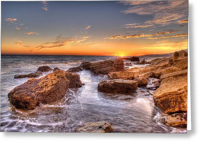 Tiejgas Sunset Greeting Card by Brad Kazmerzak