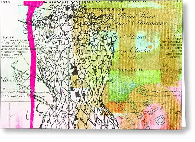 Award Mixed Media Greeting Cards - Tiffany Fashion Mannequin Abstract Greeting Card by  Artyzen Studios - ArtyZen Home