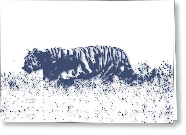 Mount Kilimanjaro National Park Greeting Cards - Tiger 4 Greeting Card by Joe Hamilton