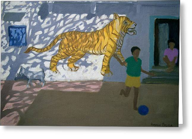 Asian Tiger Greeting Cards - Tiger Greeting Card by Andrew Macara