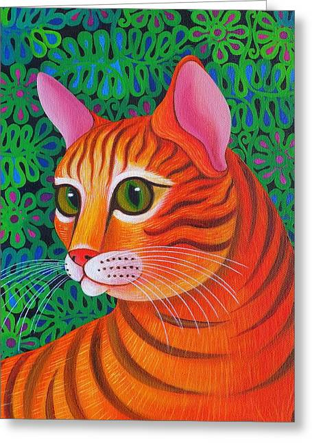 Cute Kitten Greeting Cards - Tiger Cat Greeting Card by Jane Tattersfield