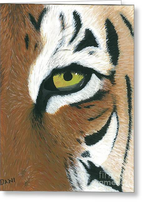 Large Cats Greeting Cards - Tiger Greeting Card by Dani Moore