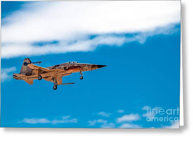 Military Airplanes Greeting Cards - Tiger II Landing Greeting Card by Robert Bales