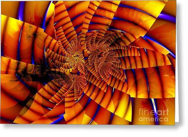 Tiger Fractal Greeting Cards - Tiger Lily Greeting Card by Ron Bissett