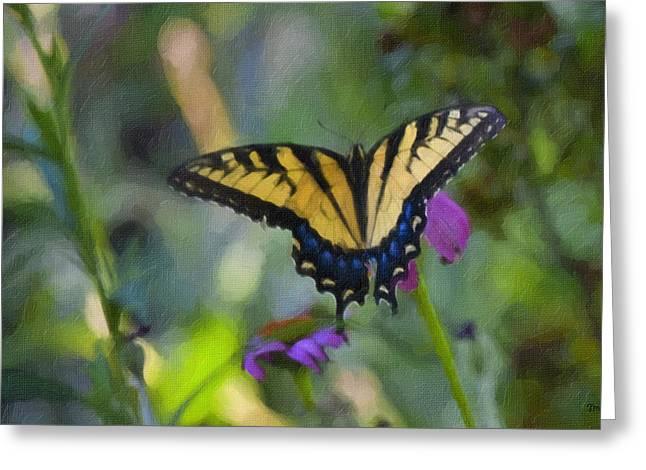 Tiger Swallowtail Greeting Cards - Tiger Swallowtail Painting Greeting Card by Teresa Mucha