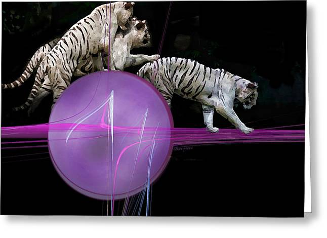Featured Greeting Cards - Tiger Tag Greeting Card by Jackie Flaten