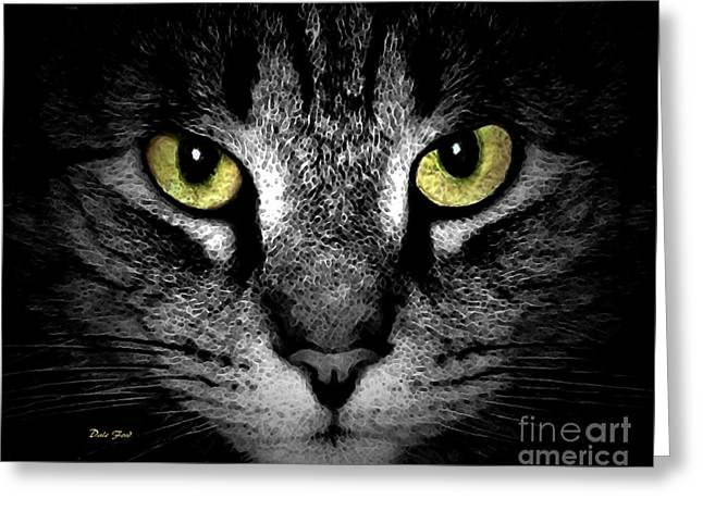 Photos Of Cats Digital Greeting Cards - Tiger Tiger 3 Greeting Card by Dale   Ford
