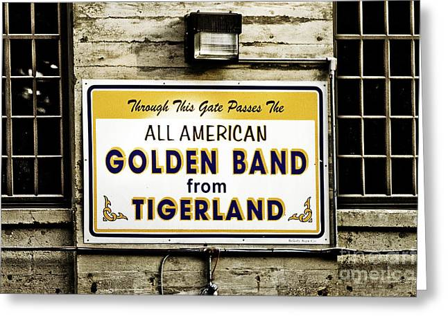 Louisiana State University Greeting Cards - Tigerland Band Greeting Card by Scott Pellegrin