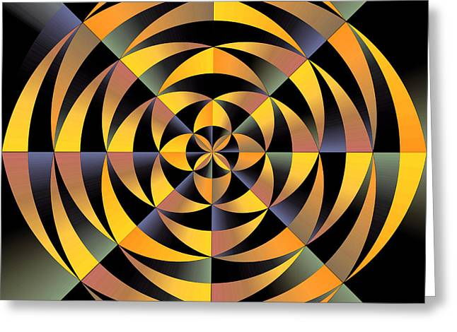 Algorithmic Abstract Greeting Cards - Tigerlike geometric design Greeting Card by Gaspar Avila