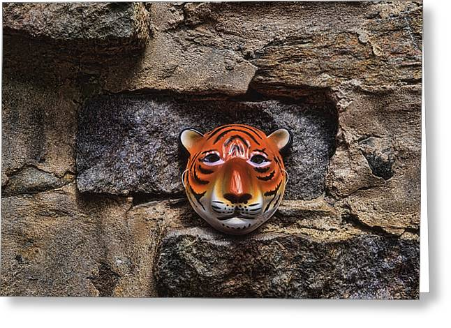 Prehistoric Digital Greeting Cards - Tigers Den Greeting Card by Jeff  Gettis