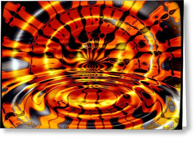 Organe Greeting Cards - Tigers Eye Greeting Card by Robert Orinski